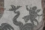 Detalle de un mosaico en las Termas de Caracalla